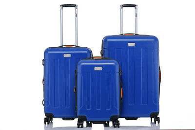 JEEP Miami Hard Luggage 3 piece set TSA expanding Lightweight BLUE