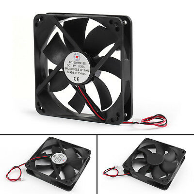 4Pcs DC Brushless Cooling Blower Fan 5V 0.2A 12025s 120x120x25mm 2 Pin Wire