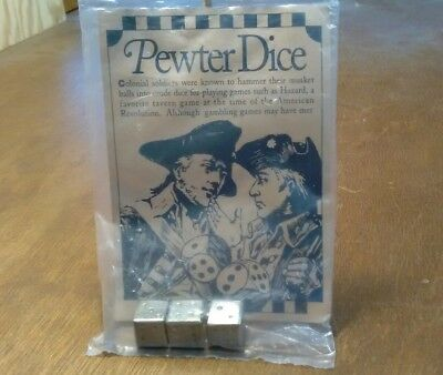 Pewter Dice Made In USA Cooperman Fife and NIP