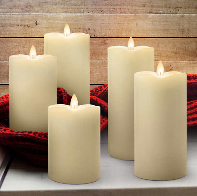 Mirage® LED Flameless Wax Candles 5-Pack w/Remote Control/Batteries NEW OPEN BOX