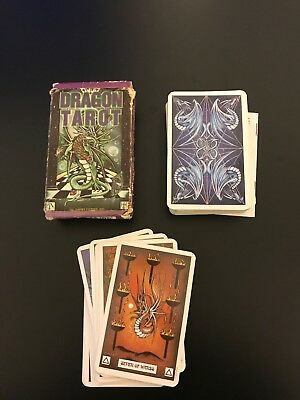 Dragon Tarot Deck Cards Used/New US Games 78 Cards w/ Booklet Peter Pracownik