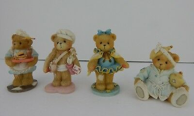 Enesco Cherished Teddies Lot of 4 Figurines Good Condition w/ Boxes (3)