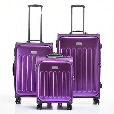 JEEP PREMIUM PLATEAU Hard Luggage 3 piece set TSA expanding Lightweight purple
