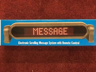 Electronic Scrolling Message Sign w/ 12V Car adaptor And Remote Control