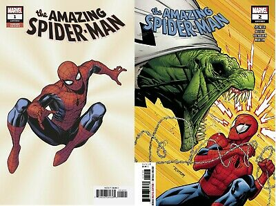 AMAZING SPIDERMAN 1 and 2 802 and 803 NM LOT 2018 New Villain Spider man Spencer