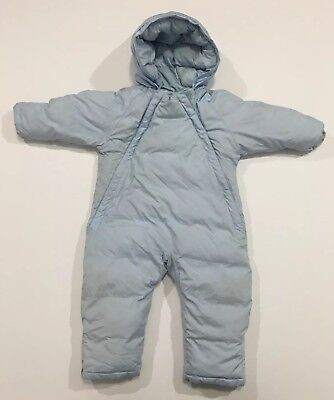 7c88ca311 LANDS END INFANT Bunting Down Warm 6-12 Months Baby Blue Boy ...