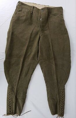 WWI US Army Wool Pants 1918 Dated Size 32