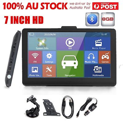 "7"" inch 8GB Car GPS Navigation FM Lorry Sat Nav Navigator Bluetooth AV-IN AUL9"