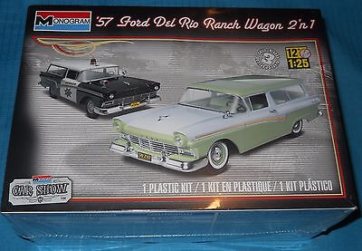 Monogram 57 Ford Del Rio Ranch Wagon-New 1/25 Scale Kit-Model Car Swap Meet