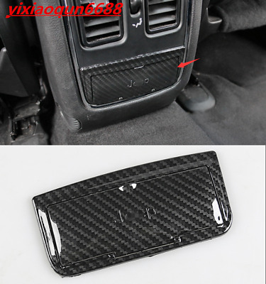 For Jeep Grand Cherokee 14-18 Carbon Fiber Rear Central Control Protective Trim
