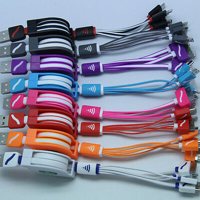 Portable 4 in 1 Multi-function USB Charger Charging Cable Cord For Cell Phone