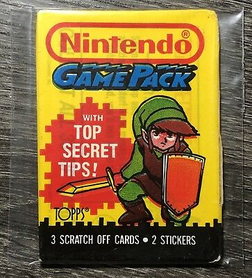 1989 Topps - NINTENDO GAME PACK - Version 2b (LINK) Unopened Wax Pack FREE SHIP