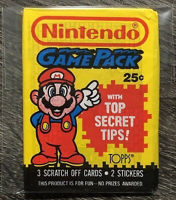 1989 Topps - NINTENDO GAME PACK - Version 1a (MARIO) Unopened Wax Pack FREE SHIP