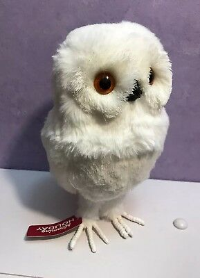 White Fluffy Snow Owl Decor Christmas Forest  Animal Wise Fur Blooming Holiday