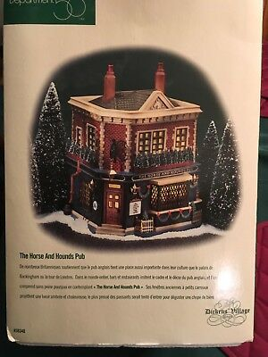 Dept 56 The Horse And Hounds Pub Christmas Dickens' Village  Nib