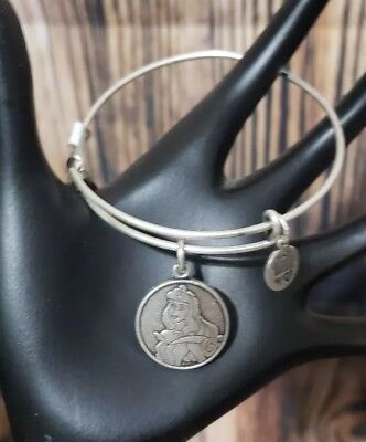 Disney Parks Alex & Ani Sleeping Beauty Aurora Charm Silver Retired Bracelet