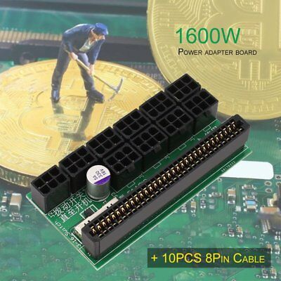 1600W DPS-1200FB A Power Supply Breakout Adapter Board+10 8P Cable LOT HS