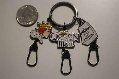 Mall Of America Queen Of The Mall Charms Key Chain Key Ring Souvenir #20379