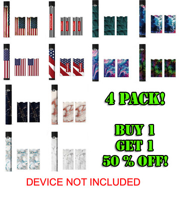 4JUUL Protective Skin Decal Premium Cove Wrap Sticker Flag Dog Camo 4 Pack NEW!