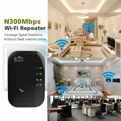 NEW 300Mbps WiIP Repeater N 802.11 AP Range Router Wireless Extender Booster FK