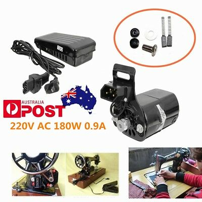 7Pcs HN-180 220V 180W 0.9A Sewing Machine Electric Motor + Speed Foot Pedal