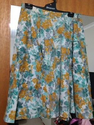 square dance skirt size 8 floral