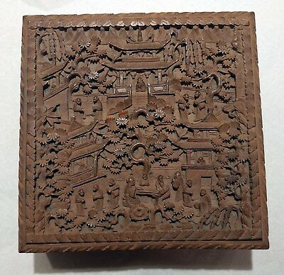 Large Antique Chinese Sandalwood Box, Possible Gift From Pearl S. Buck???