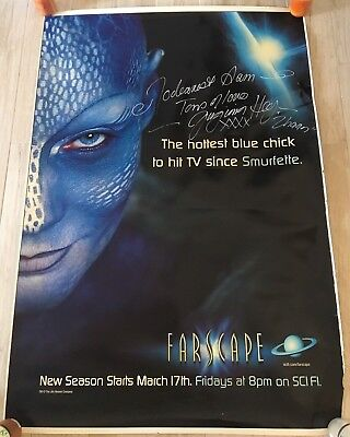 FARSCAPE HUGE 6 Foot Virginia Hey Zhaan Autographed Plastic Poster Banner Sci Fi