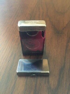 Vintage Rolls Razor Imperial Blade Red Marble Case Made In England