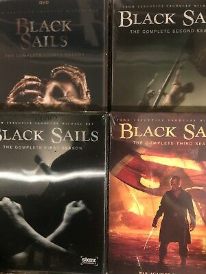 Black Sails:The Complete Series Season 1-4  DVD Sets,12 Discs NEW