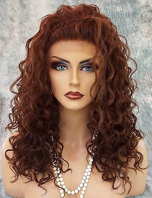 Lace Front Long Curls Braided Top Color P4.27.30 Alluring Sexy   1001