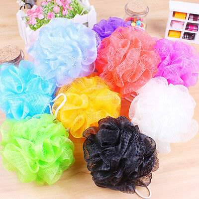 5 PCS Bath Shower Sponge Mesh Scrunchie Body Wash Scourer Puff Shower Net  U,fr