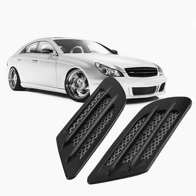 Car Side Air Flow Vent Hole Cover Fender Intake Grille Decoration StickerPG