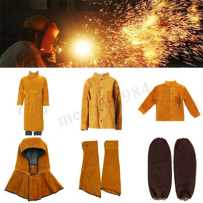 5Types Cowhide Coat Apron Clothing Apparel Sleeves Jacket Safety Welding