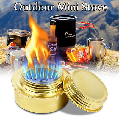 Outdoor Picnic Burner Alcohol Stove Camping Hiking Backpacking Furnace