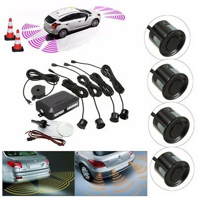 Parking 4 Sensors Car Reverse Backup Rear Buzzer Radar Sound Alarm System  new