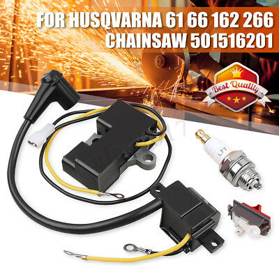 OEM Ignition Coil Module Kit For Husqvarna 61 66 162 266 Chainsaw 501516201