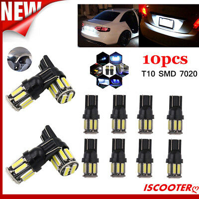 10PCS T10 7020 10SMD LED ERROR FREE W5W Car Number Reading Light White DC 12V UK