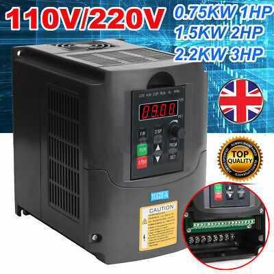 0.75KW 1.5KW 2.2KW Frequency Inverter Variable Frequency Driver Inverter 2HP 3HP