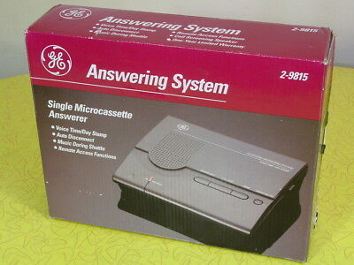 Ge 2-9815 Microcassette Answering Machine System - New Unused