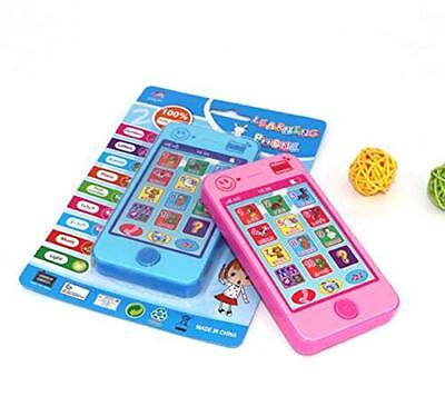 1Pc Blue Mobile Cell Phone Shape English Toy for Baby Kids Toddle Child Gift