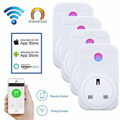 2000W Smart WIIP Plug Socket Wireless Outlet Timer Remote Voice Control Alexa CY