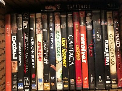 Used DVD LOT -Personal Collection - Lot 10- MFRB of Action/adv./drama/misc films