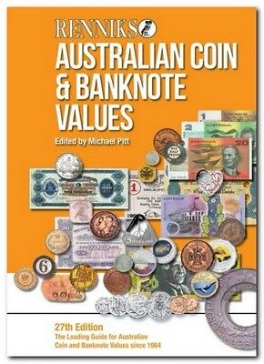 2016 Renniks Australian Coin & Banknote Values Book 27th Edition (Softcover)