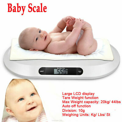 Electronic Weigh 44lbx0.4oz Comfort Digital Baby Scale Infants Toddlers LCD Show