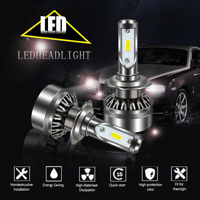 New Upgrade H7 LED Headlight Combo Kit 60W 12000LM Super Bright 2-Sided 2X
