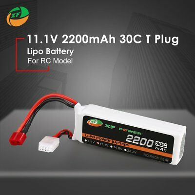 XF POWER 11.1V 2200mAh 30C 3S Lipo Battery T Plug For RC Drone Helicopter Car QP