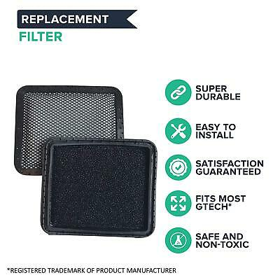 2X Washable Padded Filter For Gtech AR01 AR02 DM001 AirRam Vacuum Cleaner Hoover