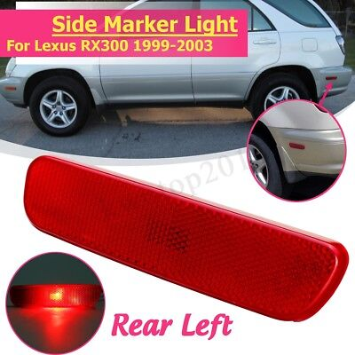 Red Rear Left Bumper Driver Side Marker Light Lamp For Lexus RX300 1999-2003