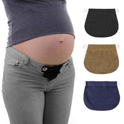 Cotton Adjustable Elastic Belt Buckle Lengthen Pregnant Women Button New FI